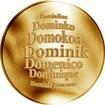 Česká jména - Dominik - zlatá medaile