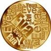 Česká jména - Eva - velká zlatá medaile 1 Oz