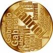Česká jména - Gabriel - velká zlatá medaile 1 Oz