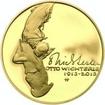 Nevydané mince Jiřího Harcuby - Otto Wichterle 34mm zlato Proof