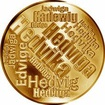Česká jména - Hedvika - velká zlatá medaile 1 Oz