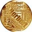 Česká jména - Herbert - velká zlatá medaile 1 Oz