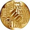 Česká jména - Ivo - velká zlatá medaile 1 Oz
