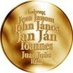Česká jména - Jan - velká zlatá medaile 1 Oz