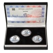 JOSEF BICAN – návrhy mince 200,-Kč - sada tří Ag medailí 1 Oz Proof