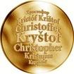 Česká jména - Kryštof - zlatá medaile