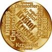 Česká jména - Kryštof - velká zlatá medaile 1 Oz