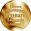 Slovenská jména - Leonard - velká zlatá medaile 1 Oz
