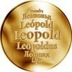 Česká jména - Leopold - zlatá medaile