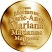 Česká jména - Mariana - zlatá medaile