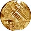 Česká jména - Mariana - velká zlatá medaile 1 Oz