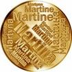 Česká jména - Martina - velká zlatá medaile 1 Oz