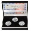 MOST V ŽAMPACHU – návrhy mince 5000,-Kč sada tří Ag medailí 1 Oz Proof