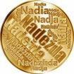 Česká jména - Naděžda - velká zlatá medaile 1 Oz