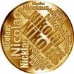 Česká jména - Nikolas - velká zlatá medaile 1 Oz