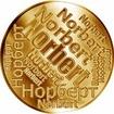 Česká jména - Norbert - velká zlatá medaile 1 Oz