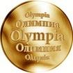 Slovenská jména - Olympia - velká zlatá medaile 1 Oz