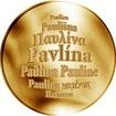 Česká jména - Pavlína - zlatá medaile