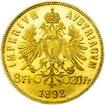 Investiční zlato - Zlatá mince - 8 Zlatník - 20 Frank