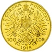 Investiční zlato - Zlatá mince - 100 Korun