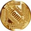 Česká jména - Radomír - velká zlatá medaile 1 Oz
