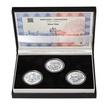 VÁCLAV THÁM – návrhy mince 500,-Kč - sada tří Ag medailí 1 Oz Proof
