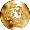 Česká jména - Vít - velká zlatá medaile 1 Oz