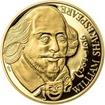 William Shakespeare - 450. výročí narození zlato proof