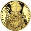 Čert a Mikuláš 25 mm zlato Proof