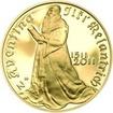 Nevydané mince Jiřího Harcuby - Jiří Melantrich z Aventina 34mm zlato Proof