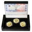 JIŘÍ KOLÁŘ – návrhy mince 500 Kč - sada 3x zlato b.k.