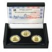 SESTROJENÍ STAROMĚSTSKÉHO ORLOJE – návrhy mince 200 Kč - sada 3x zlato Proof