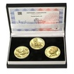 TOMÁŠ BAŤA ml. – návrhy mince 200 Kč - sada 3x zlato Proof