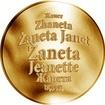 Česká jména - Žaneta - zlatá medaile
