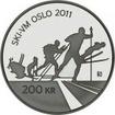 200 Krone Stříbrná mince Mistrovství světa v klasickém lyžování v Liberci 2011 PP