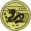 100 dolarů Zlatá mince Rok draka 1 Oz PL