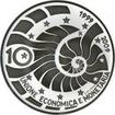 10 Euro Stříbrná mince 10 let Hospodářské a měnové unie