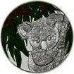 5 dolarů Silver Koala & Eucalyptus - Vůně mince OSN
