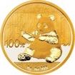 Zlatá mince Panda 8 gramů 2017
