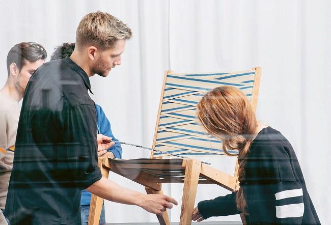Výroba křesla podle Sigurda Larsena