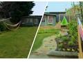 Zahrada pře úpravou a po ní