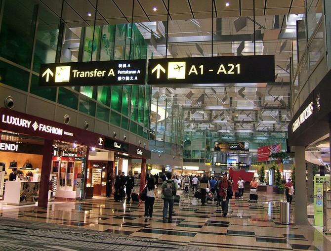 Singapurské letiště s orchidejovou zahradou