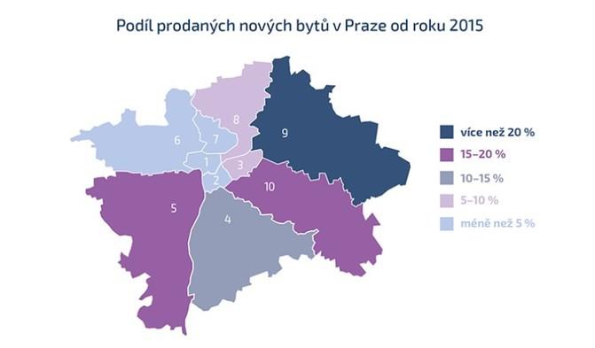 Nárůst je možné pozorovat především v Praze 5