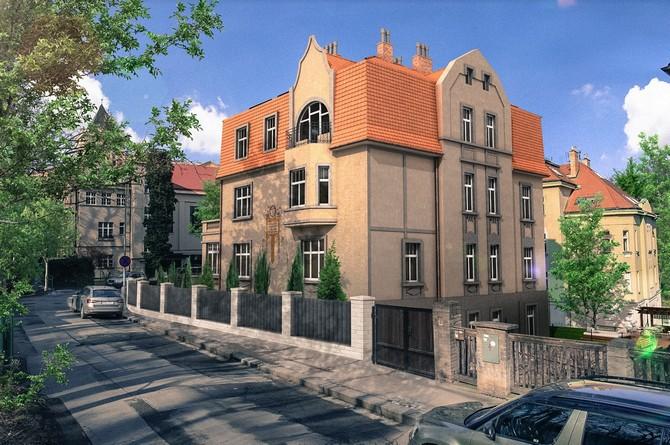 Secesní vila byla postavena v letech 1912-1913