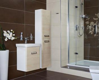 Koupelnový nábytek se zakulacenými rohy