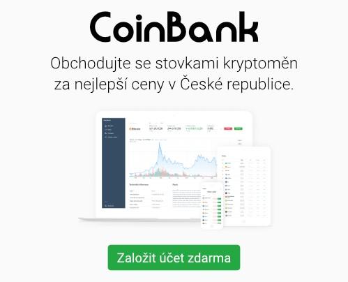 Nákup kryptoměn CoinBank