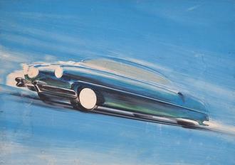 V podzimní aukci Sýpky budou nabídnuty originální kreslené návrhy plakátů Tatra