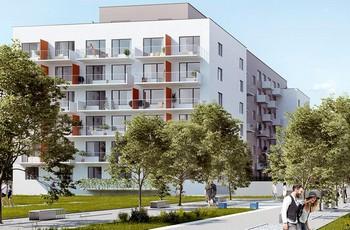 Rezidenční projekt Tulipa City je přímo naproti stanici metra Kolbenova
