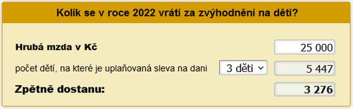 Daňové zvýhodnění na děti za 2021
