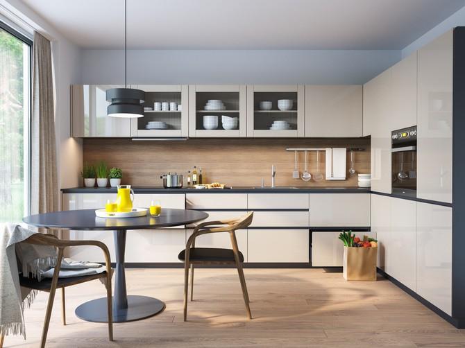 Drátosklo je retro prvek v moderní kuchyni